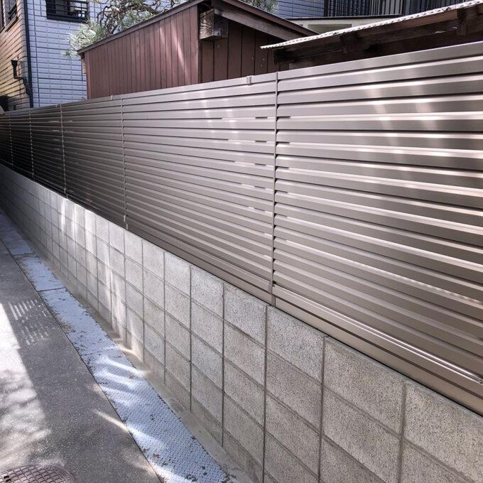 西区 駐輪場外壁工事