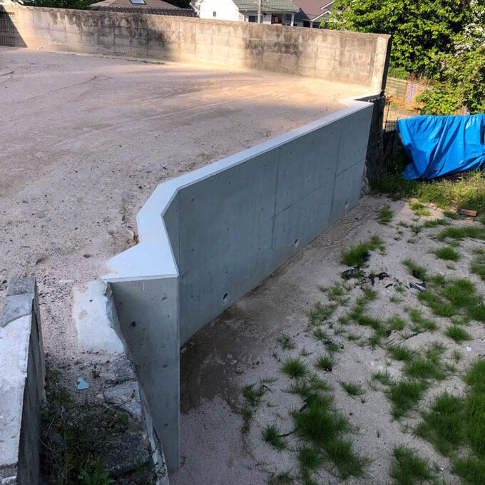 安佐南区 宅地擁壁工事